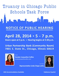 Truancy In Chicago Public Schools Taskforce Public Hearing