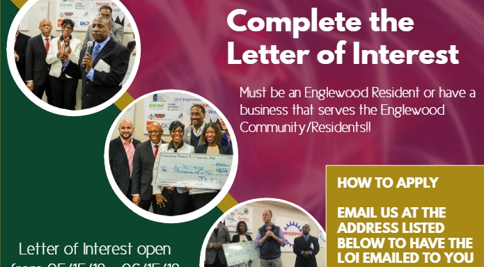 The Englewood Quality of Life Business Plan Competition  Application