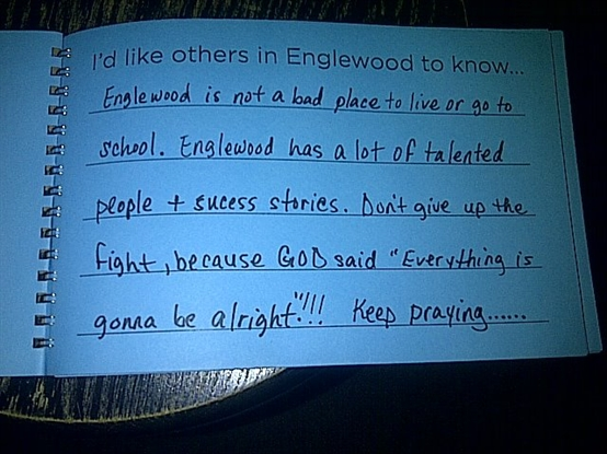 Noticeable Acts of Neighborhood Heroism in Englewood