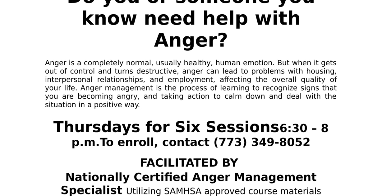 Catholic Charities ACES Anger Management — Englewood Portal