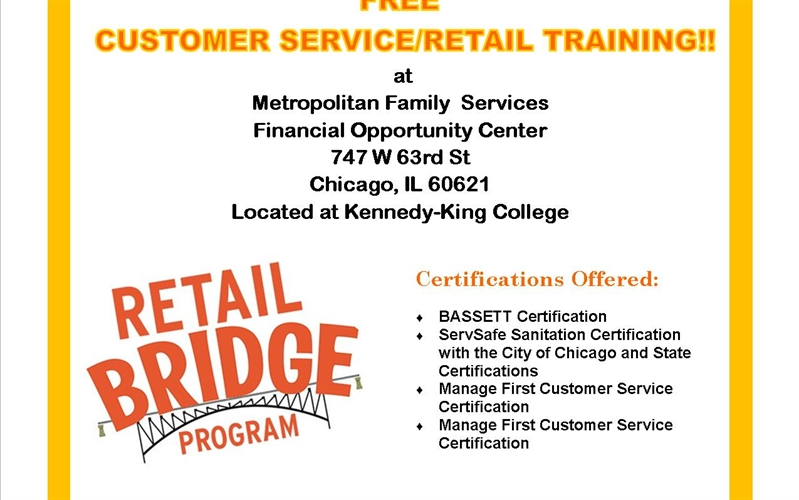 FREE Customer Service/ Retail Training