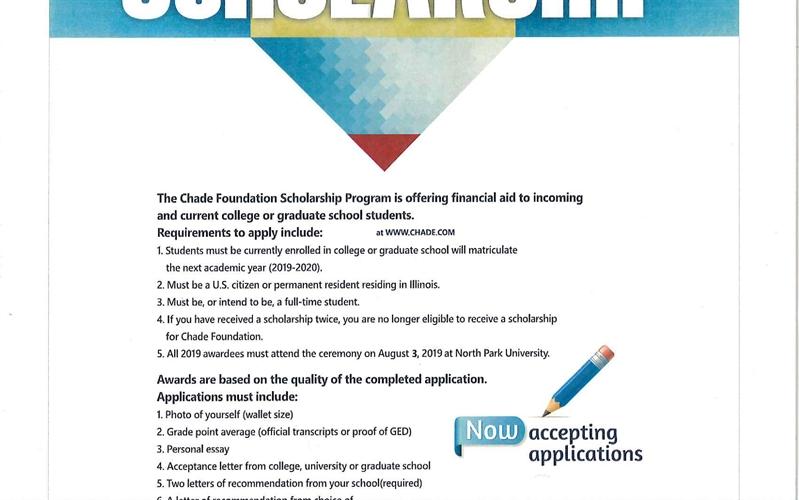 Chade Foundation 2019 Scholarship
