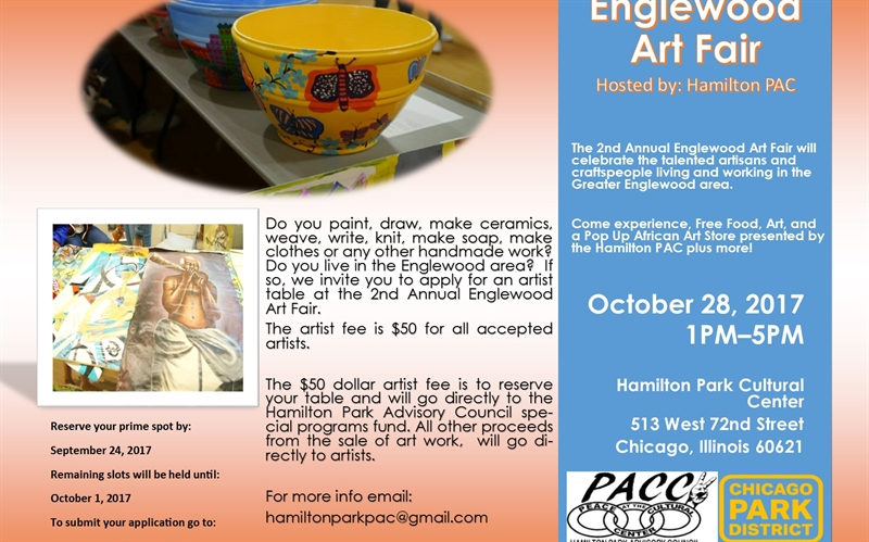Reserve Your Table for the 2nd Annual Englewood Art Fair!