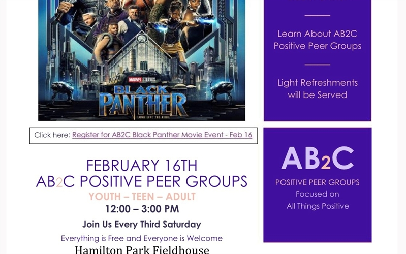 AB2C Positive Peer Groups - 'Black Panther' Movie Event