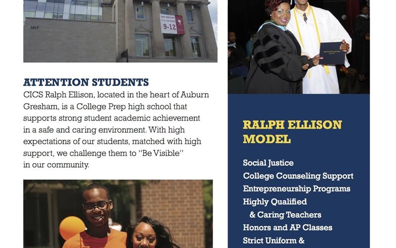 CICS-Ralph Ellison  Attention Prospective Students