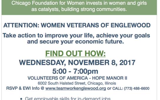 Englewood Women's Initiative Appeals to Englewood Women Veterans